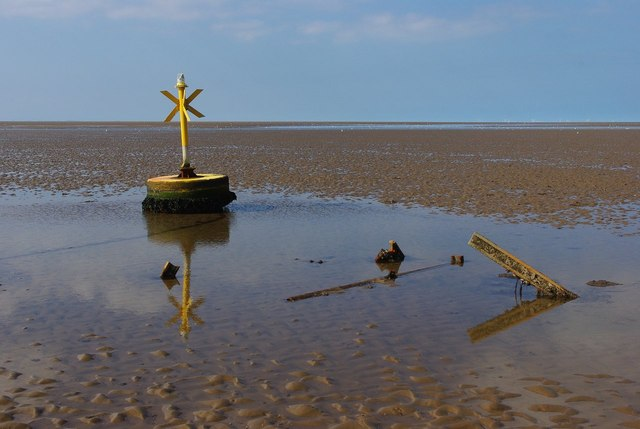 Hunstanton Beach buoy and former beacon