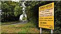 J1667 : Railway sign, Ballinderry by Albert Bridge