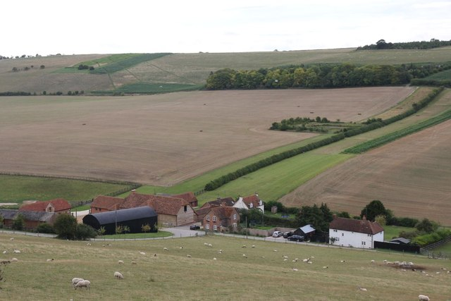 Looking down on Starveall Farm