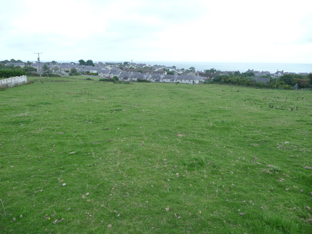 Fields above Moelfre village
