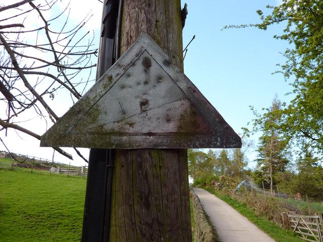 Unusual road sign on Wood Hey Lane