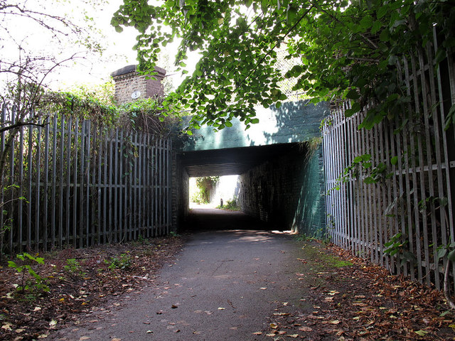 Railway underpass near Haydons Road