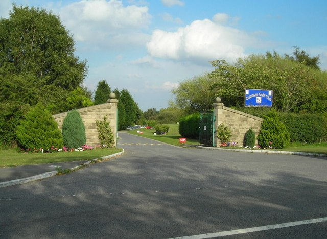 Entrance to Coxmoor Golf Club