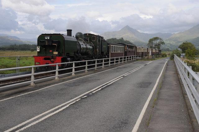 Steam train on the Welsh Highland Railway
