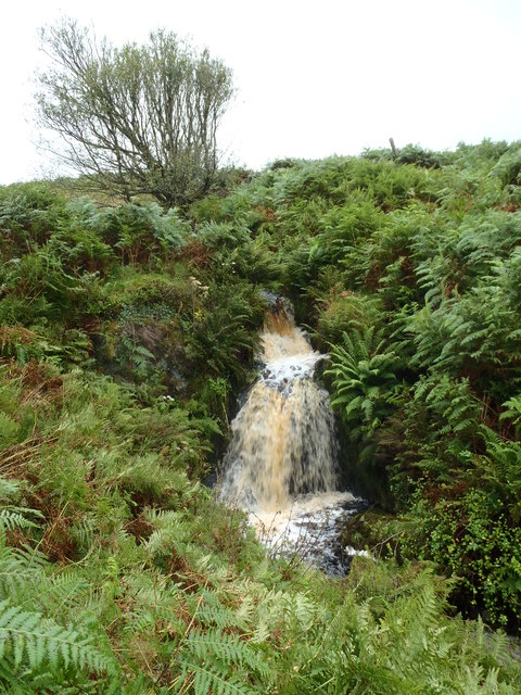 The peaty waters of Derrygown Linn
