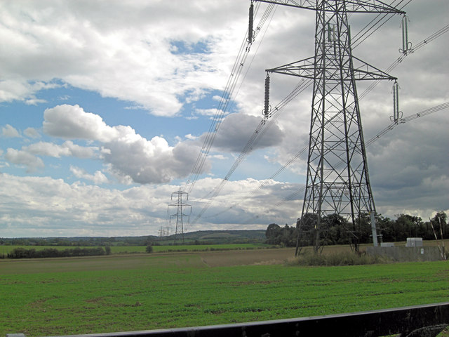 Halfpenny Lane under the power lines