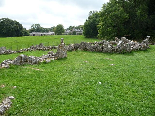 Part of Din Lligwy ancient settlement