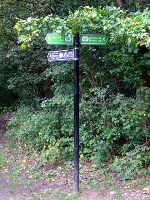 Signpost by the River Brent