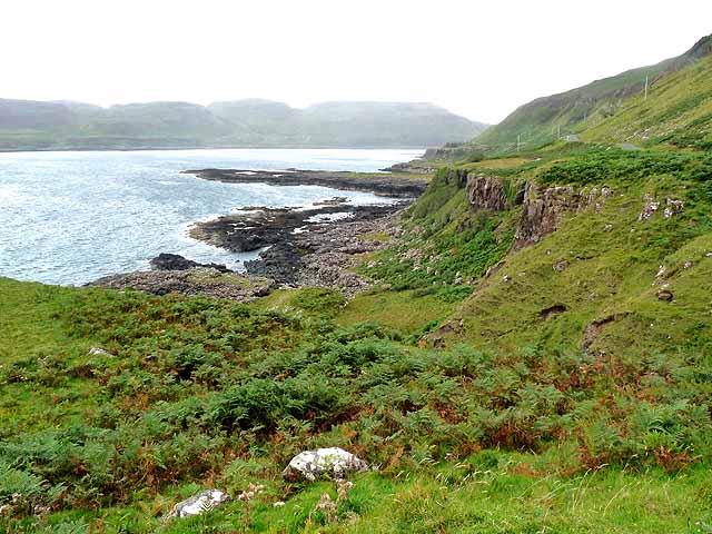 Coastline below Creag a'Chaisteil