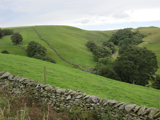 The valley of Stainforth Beck from Goat Lane