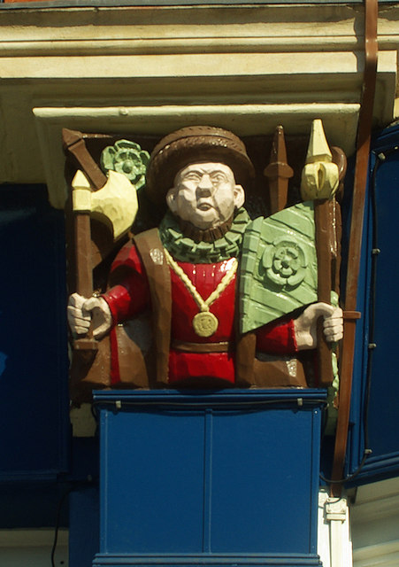 Wooden carved relief of Henry VIII, Forest Gate