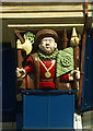 TQ4085 : Wooden carved relief of Henry VIII, Forest Gate by Jim Osley