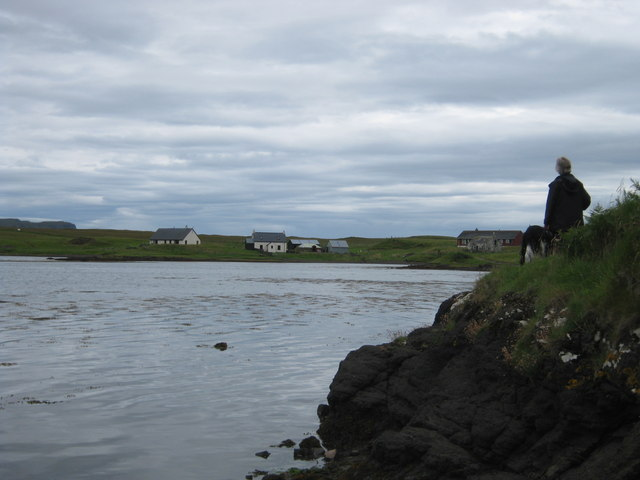 The road on Sanday - at high tide!