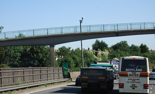 Footbridge over the A282