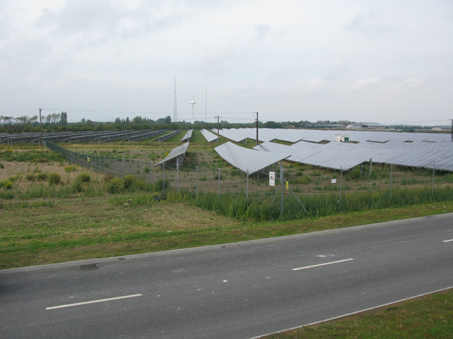 Solar panel array at Richborough