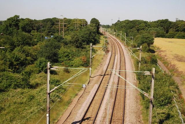 Railway line to Upminster