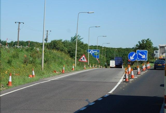 Slip road, Junction 29, M25