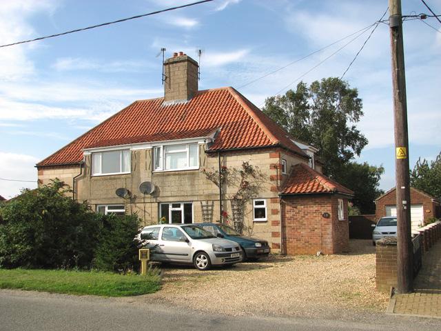Airey Houses in Station Road, Dersingham