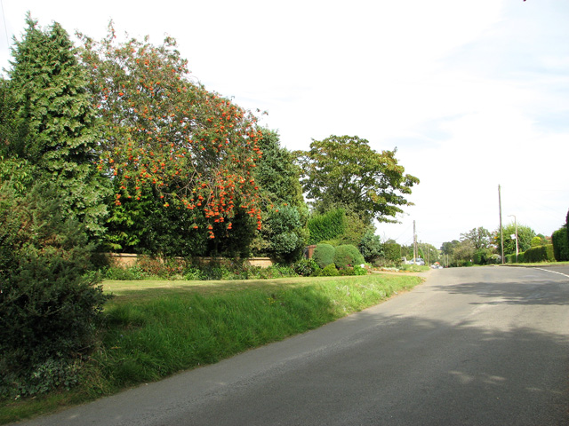 View east along Station Road, Dersingham
