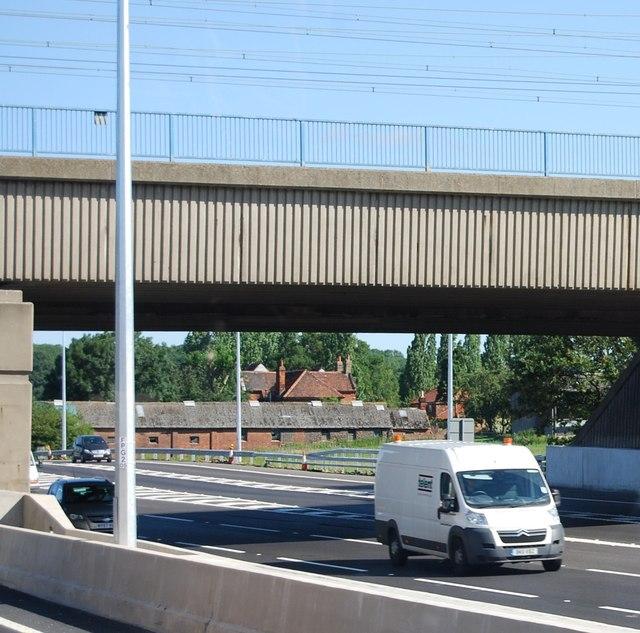 Railway bridge over the M25