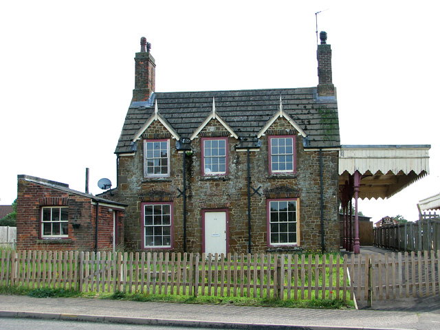 The former railway station in Dersingham