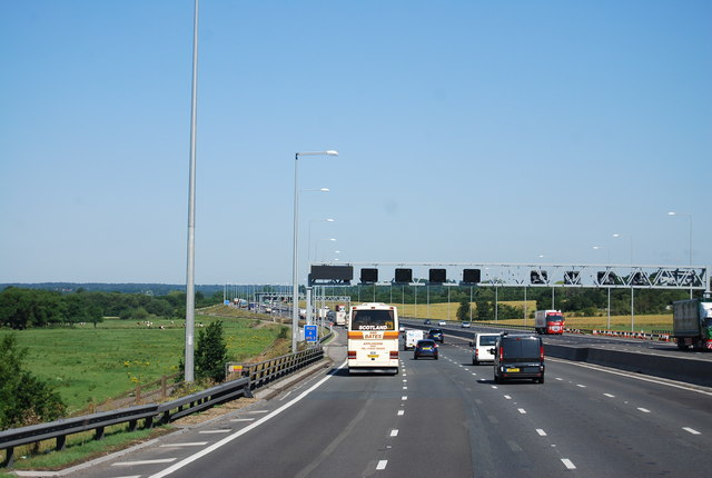 The M25, anticlockwise