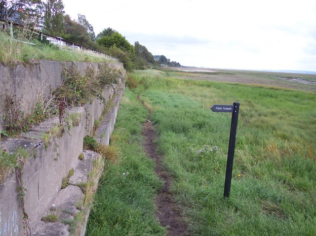 Signpost for path up to Park West