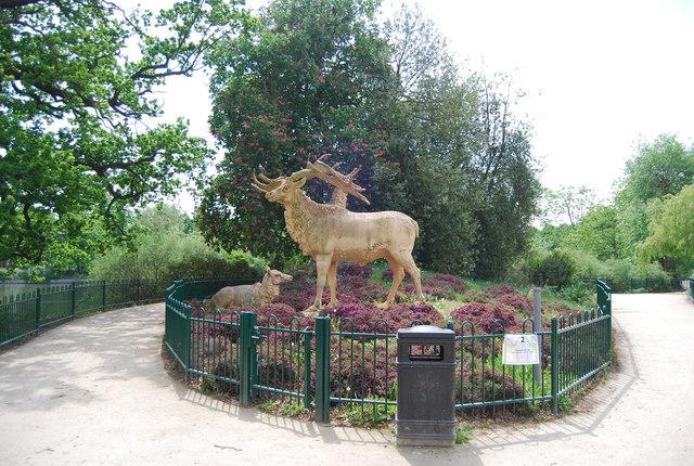 Deer statue, Crystal Palace Park