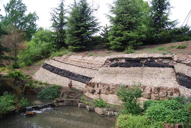 Fake geology, Crystal Palace Park