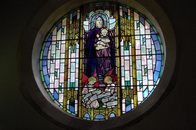 Stained glass window, Westfield Church