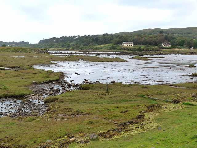 Salt marsh at the head of Loch a'Chumhainn