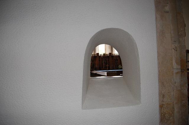 Hagioscope in Westfield Church