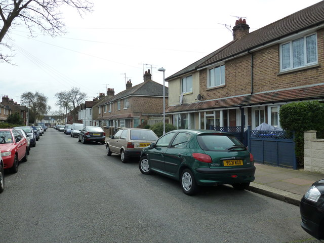Parked cars in St Anselm's Road