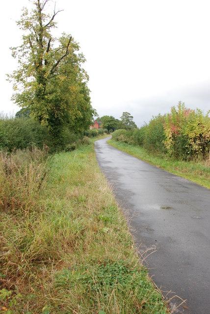 The Road to Lapley Wood Farm, Lapley