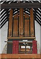 TQ8218 : Organ in St George's Church, Brede  by Julian P Guffogg