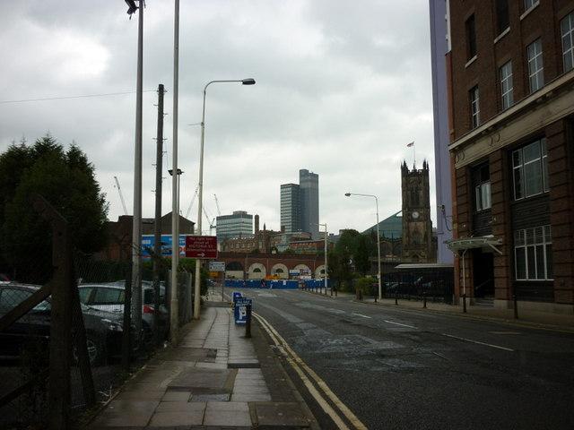 Looking along the A6041, Chapel Street