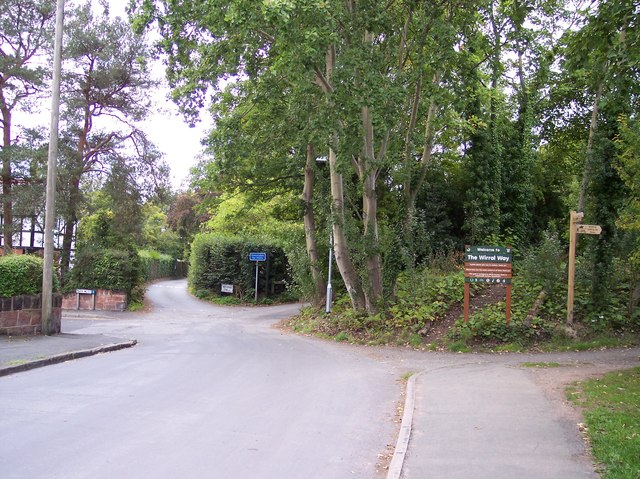 The entrance to Wirral Way at Davenport Road