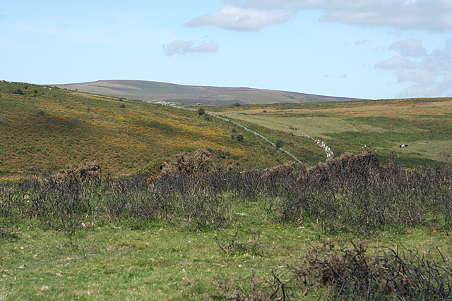 Buckland in the Moor: towards Blackslade Down
