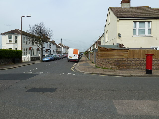 Looking from St Anselm's Road into Lanfranc Road