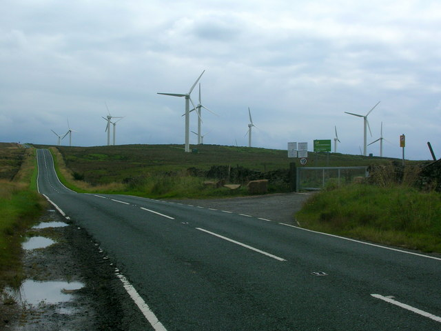 The Long Causeway and Cold Clough Wind Farm