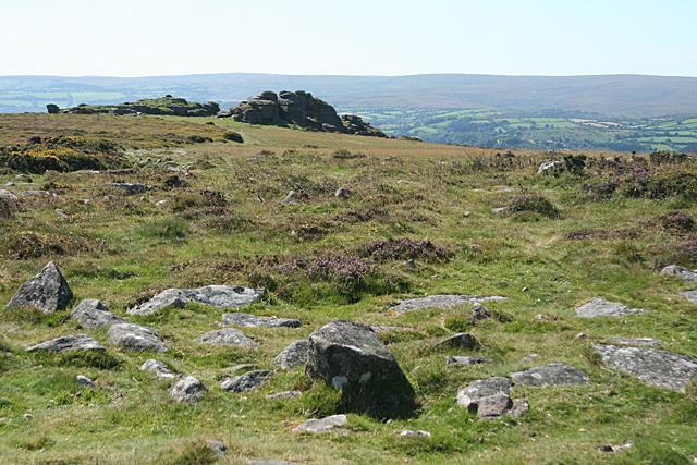 Widecombe in the Moor: towards Pil Tor