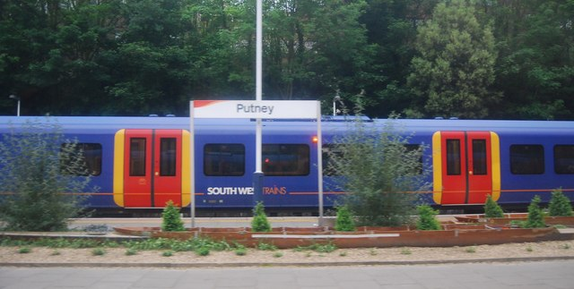 South West train at Putney Station