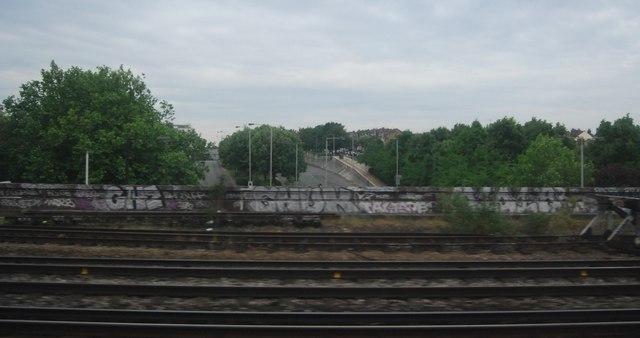 Graffiti by the railway line