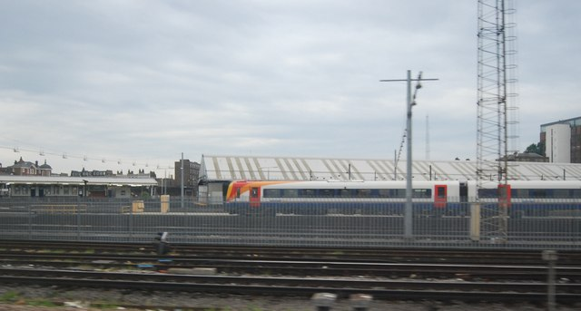 Train in the sidings, Clapham Junction
