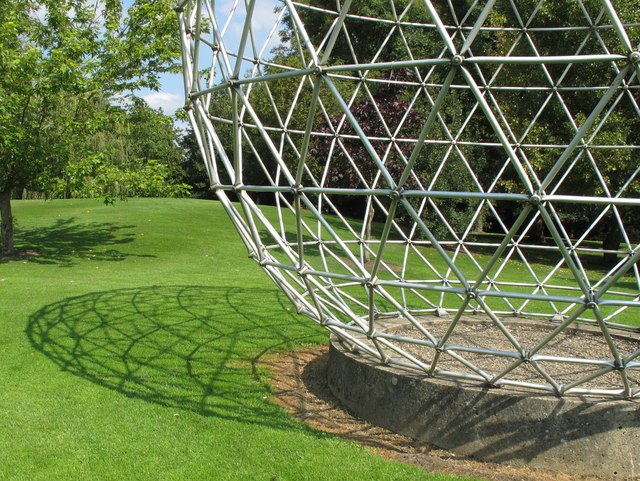 Sphere sculpture and its shadow, University of Surrey