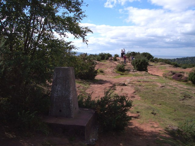 The trig. point on Thurstaston Hill