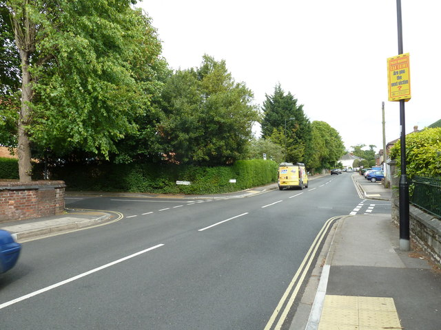 Crossroads of Weston Grove Road and Church Road