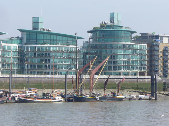 Thames Barges at Wapping