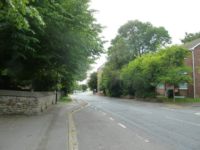 Looking across from Holy Trinity, Weston to Barnfield Court