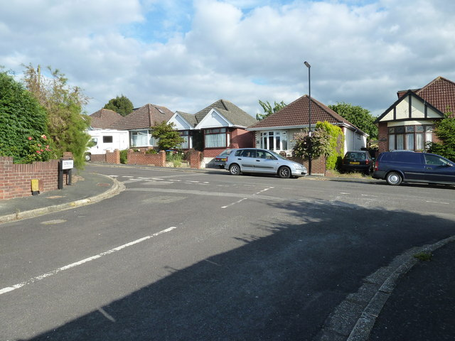 Looking from Elstree Road into Maldon Road
